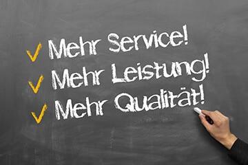 Service und Leistung