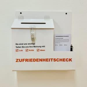 Rehaktiv Engelskirchen GmbH Beschwerdemanagement - nutzen Sie unseren Zufriedenheitscheck (Complaint Box)