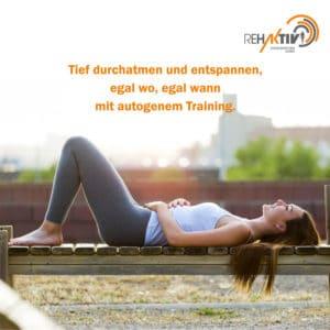 Präventionskurs §20 SGB V – Autogenes Training – Rehaktiv-Engelskirchen